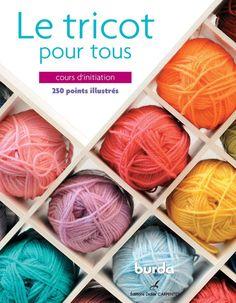 Le tricotpour tous 250 points illustrés Éditions Didier CARPENTIER cours d'initiation