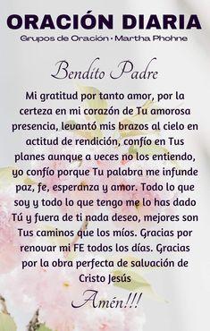 Faith Quotes, Life Quotes, Prayer For My Family, Spanish Inspirational Quotes, Catholic Religion, Biblical Verses, Catholic Prayers, Prayer Board, God Prayer
