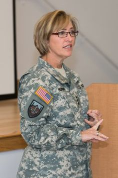 """Army Surgeon General Lt. Gen. Patricia D. Horoho explains her vision of a prevention and health promotion-focused Army Medical Department during a """"Performance Triad"""" workshop held Sept. 18""""21 at Aberdeen Proving Ground, Md. (Graham Snodgrass, U.S. Army Public Health Command)"""