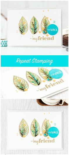 Repeat stamping is a simple technique for taking a smaller image you love and making it centre stage. Find out more by clicking the following link: http://limedoodledesign.com/2015/09/repeat-stamping/