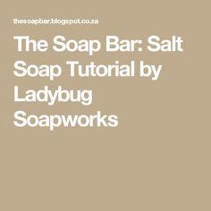 The Soap Bar: Salt Soap Tutorial by Ladybug Soapworks