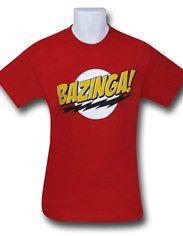 Big Bang Theory Bazinga Logo T-Shirt