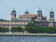 Ellis Island, immigrant gateway in New York Harbor. From 2010 Oh The Places You'll Go, Places Ive Been, Places To Visit, Famous Landmarks, Famous Places, Ellis Island Immigrants, Island Park, My Kind Of Town, Interesting Buildings