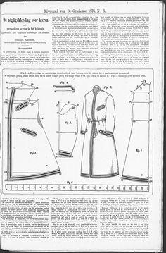 De Gracieuse. Geïllustreerde Aglaja, 1876, page 51  Men's Robe