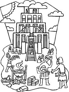 tower of babel coloring pages tower of babel printables tower