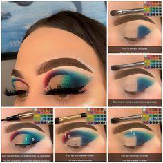 Makeup Ideas, Makeup Tips, Beauty Makeup, Eyeshadow Makeup, Eyeliner, Morphe Pallet, Eyeshadow Step By Step, Half Cut Crease, Eye Makeup Steps