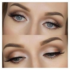 Beautiful Wedding Makeup! ❤ liked on Polyvore featuring beauty products, makeup and eyes