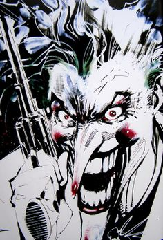 The Joker sketch by Jim Lee for Heath Ledger as a gift *