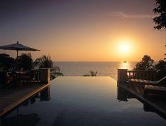 Sunset as seen from Ocean View Pool Villa. #Trisara #Phuket #Thailand