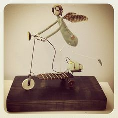 Samantha BRYAN Ooak Dolls, Art Dolls, Sculpture Art, Sculptures, Paper Mache, Wooden Toys, Fairies, Cool Art, Pots