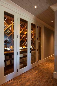 Mountain craftsman home with rustic elegance in Blue Ridge Mountains Home Wine Cellars, Wine Cellar Design, Wine Display, Wine Glass Rack, Wine Wall, Wine Cabinets, In Vino Veritas, Wine Storage, Storage Rack