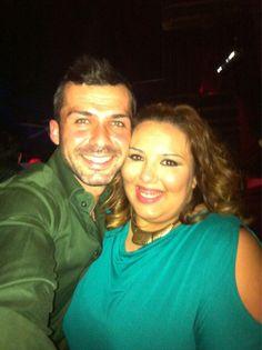 Con La guapísima @Lore_edo en #LaPosada después de la gala de #gh14 @Albertodelacru