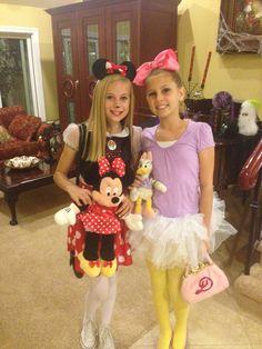 Daisy Duck and Minnie Mouse Halloween coustum