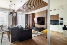 МЕТРАЖ: 56 м2  ДИЗАЙН: АЛЕКСАНДРА ГАРТКЕ Conference Room, Divider, Interior Design, Table, Furniture, Home Decor, Behance, Ideas, Nest Design