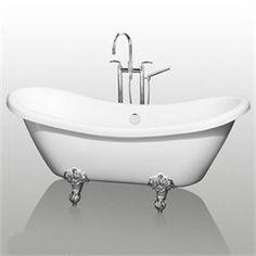 "Fairfield 69"" Double Slipper Soaking Bathtub"