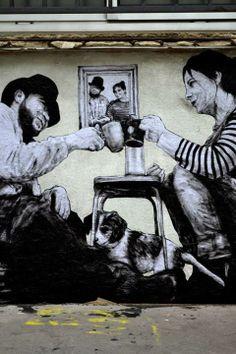Artist :Levalet Mai 2014 Relogement Urban Slam / Zippertravel