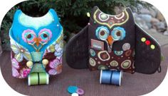 Owl Sewing Kit - made 'in the hoop' machine embroidery design