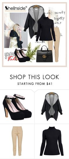 """""""Shein 2"""" by aida-1999 ❤ liked on Polyvore featuring Rumour London, Gucci, women's clothing, women's fashion, women, female, woman, misses and juniors"""