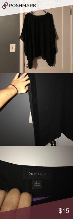 AB Studio black elegant shirt AB Studio elegant dress shirt, worn once for my 21st birthday! In great condition, worn kind of like a dressy poncho AB Studio Tops