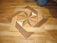 wood floor designs for entryways | Custom Wood Flooring Borders ...
