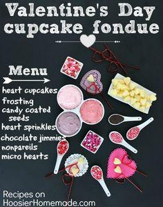 Valentine's Day Cupcake Fondue!