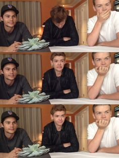 I love how Dylan and Will both stay the same face, and then there's Thomas with 3 totally different faces!