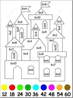 Tercero Home Inspiration inspire home automation room thermostat Math Coloring Worksheets, Kids Math Worksheets, Multiplication Worksheets, Math Games, Math Activities, Math School, Third Grade Math, Homeschool Math, Math For Kids