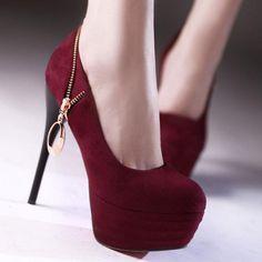Sexy High Heels Women's  Metal Pendant Zipper Dress Shoes   http://hisandherfashion.com/collections/women-shoes/products/sexy-high-heels-womens-metal-pendant-zipper-dress-shoes