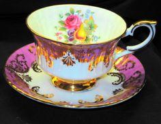 PARAGON-FRUIT-PINK-MAUVE-GOLD-TEA-CUP-AND-SAUCER