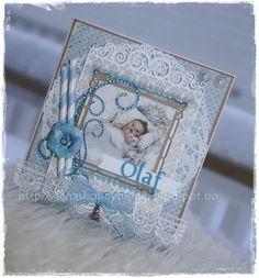 Lenashobbyblogg: Dåpskort til gutt