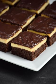 Triple Layer Cheesecake Brownies Squares | Gringalicious.com