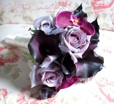 Dark purple and other purples Bouquet