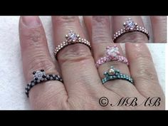 tiny beaded rings ~ Seed Bead Tutorials