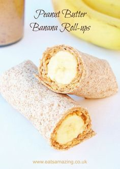 Quick and easy healthy breakfast ideas for kids from Eats Amazing UK - Peanut Butter Banana Roll-ups Recipe Quick Healthy Breakfast Ideas & Recipe for Busy Mornings Baby Led Weaning Breakfast, Breakfast Desayunos, Quick Healthy Breakfast, Healthy Snacks For Kids, Toddler Breakfast Ideas, Healthy Meals, Breakfast For Children, Healthy Breakfast For Toddlers, Baby Led Weaning Lunch Ideas
