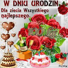 picmix na urodziny - Szukaj w Google Happy Birthday Messages, Birthday Wishes, Birthday Cake, Wine Bottle Images, Table Decorations, Holiday Decor, Album, Popular, Humor