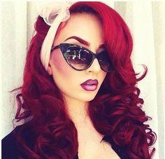 رنگ مو قرمز زنانه 2014