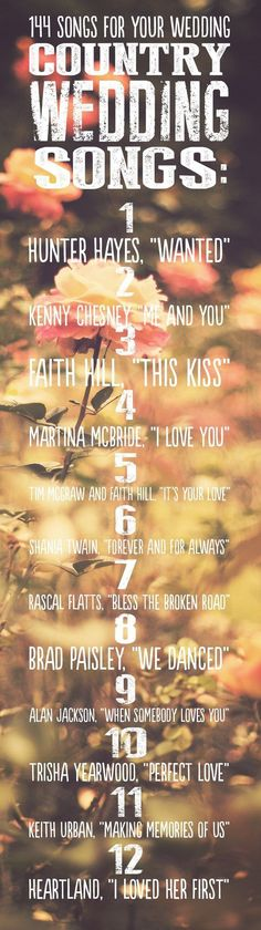 Country Wedding Songs 144 Swoon-Worthy Songs For Every Part Of Your Wedding Day Wedding Reception, Rustic Wedding, Our Wedding, Dream Wedding, Trendy Wedding, Wedding Ceremony, Wedding Stuff, Wedding 2015, Fall Wedding