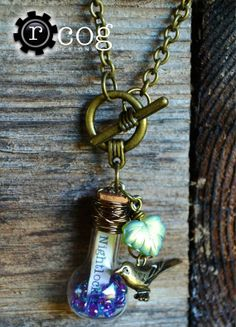 Hunger Games Jewelry - Nightlock Berries and Jabberjay Necklace