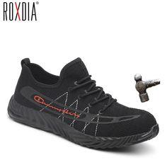6707f72ca ROXDIA brand steel toecap men women work boots plus size 35-46 summer  casual lightweight
