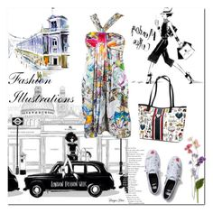 """Fashion Illustrations"" by ilona-828 ❤ liked on Polyvore featuring art"