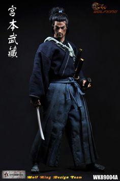 1/6 escala figura boneca japonesa samurai Miyamoto Musashi