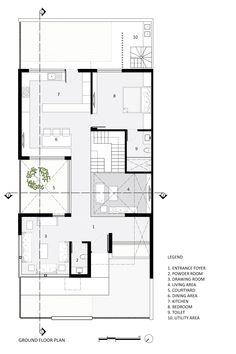 Duplex Floor Plans, Home Design Floor Plans, House Floor Plans, 20x30 House Plans, Small House Plans, North Facing House, Brick House Designs, Indian House Plans, House Design Pictures
