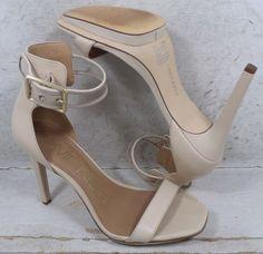 ef3453d911bd Calvin Klein Womens Vable Sand Beige Leather Sandals Heels Shoes size 9 M   fashion