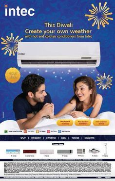 #Print #Advertisement for #INTEC Air Conditioner featured in #HINDUSTAN #TIMES
