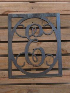 Unfinished Metal Initial with border 5 DIY Door by KDCustomCuts