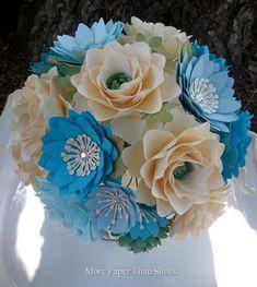 Paper Flower Bouquet - Wedding Bouquet - Bridal Bouquet - Custom Made - Any Color