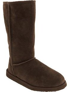 Women's Tall Suede Boots | Old Navy    Look identical to Uggs for a fraction of the price!