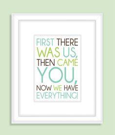 Children's Quote Nursery Wall Art  Print by FieldandFlower on Etsy,