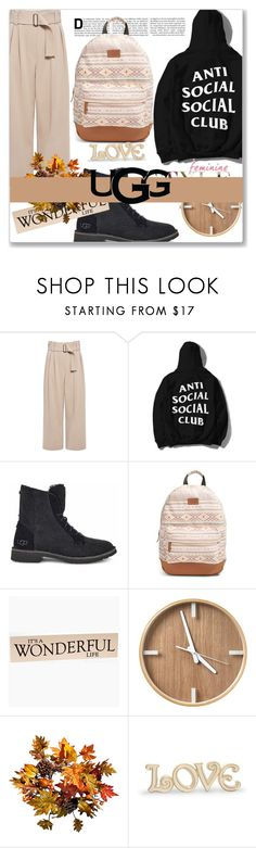 """""""The New Classics With UGG: Contest Entry"""" by kriz-nambikatt ❤ liked on Polyvore featuring A.L.C., UGG, Rip Curl, Improvements, Lenox and ugg"""