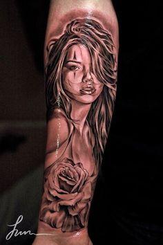 3D Arm Tattoo - Girl Tattoo - Best Tattoos Ever - Tattoo by Jun Cha - 11